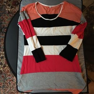 Tops - Bright Colors Tunic Stretch Top NWOT